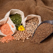 Lentils, Peas and Beans — Stockfoto #20978255