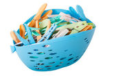 Clothes Peg Basket — Stock Photo