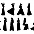 Royalty-Free Stock Photo: Silhouette elegant woman