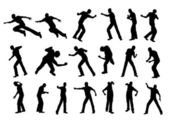 Silhouette fight man — Stock Photo