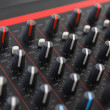 Stock Photo: Part of control audio sound mixer