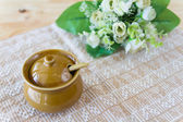 Ceramic clay small pot for cooking or general use — ストック写真