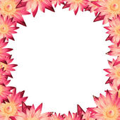 Frame lotus or water lily design by heart outline — Stock Photo