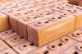 Orange block wall could be used for background texture — Stock Photo