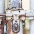Stockfoto: Old Iron latch has corroded