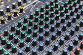 Part of control an audio sound mixer — Stock Photo