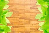 Wood block wall texture — Stock Photo