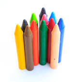 Wax crayons isolated on white background — Foto Stock