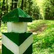 Stock Photo: Forest limit column