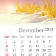 Calendar for December 2013 — Stock Photo