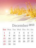 Calendar for December 2013 — Stock Photo