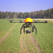 Flying drone in the field. — Stock Photo