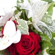 Stock Photo: Bouquet with white ribbon