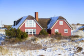 Privat house in winter — Stock Photo