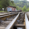 Railway station in the Zittauer mountains - Stock Photo