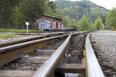 Railway station in the Zittauer mountains — Stock Photo