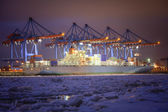 Container Terminal in Hamburg, Germany — Stock Photo