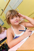 Pupil in school — Stock Photo