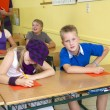 Children at lesson — Stock Photo