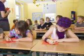 Children at lesson — Foto Stock