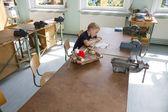 Boy at labour lesson — Foto de Stock