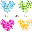 Four seasons (raster illustration) — Stock Photo