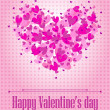 Valentine's day poster (raster illustration) — Stock Photo