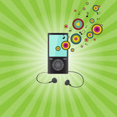 Audio player (raster illustration) — Stockfoto
