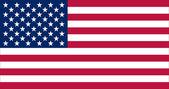 American flag (raster illustration) — Stock Photo