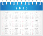 Stylish calendar page for 2013 — Stock Vector