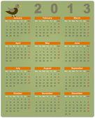 Barevný kalendář 2013 — Stock vektor