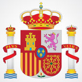 Coat of Arms of Spain — Stock Vector