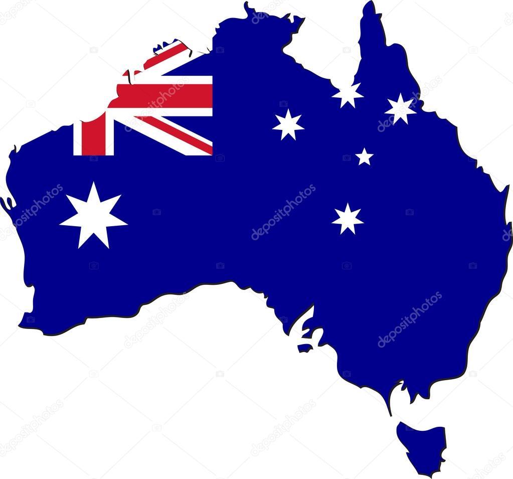 澳大利亚国旗与地图 — 图库矢量图像08 issumbosi