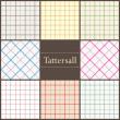 Tattersall plaid pattern — Stock Vector