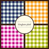 Set of gingham plaid patterns — Stock Vector