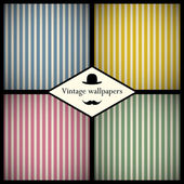 Set of vintage striped patterns — Stock Vector