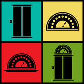 Elevator icons — Stock Vector