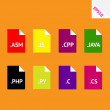 Vector de stock : Source code file formats