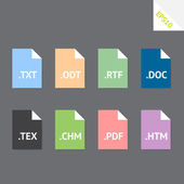 Text file formats — Stockvector