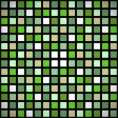 Green stained-glass window seamless pattern — Vector de stock