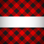 Classic tilted lumberjack plaid pattern — Stock Vector