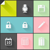 Two-colored flat icons — Stockvector