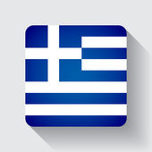 Web button with flag of Greece — Stock Vector