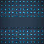 Dark blue background with hearts — Vettoriale Stock