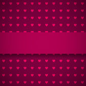 Dark red background with hearts — Stock Vector