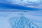 Winter morning on the sea — Stock Photo