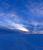 The morning sky over the sea, panorama — Stock Photo
