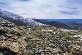 Landschaft von berggipfeln — Stockfoto