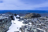 Landscape of mountain tops — Stock Photo