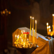 Divine service in an orthodox temple — Stock Photo #36102073